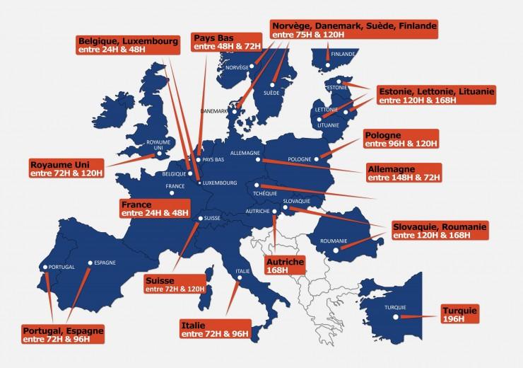 Transport de marchandises en Europe