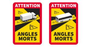 panneaux angles morts camions poids lourds